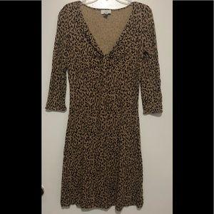Ann Taylor Loft Leopard Print Dress